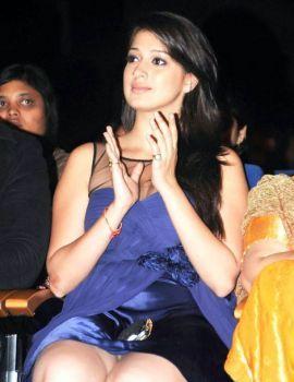 Lakshmi Roy in Blue Dress at PFMI Grand Finale Event
