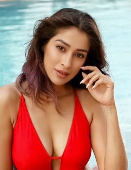 Raai Lakshmi in Red Bikini