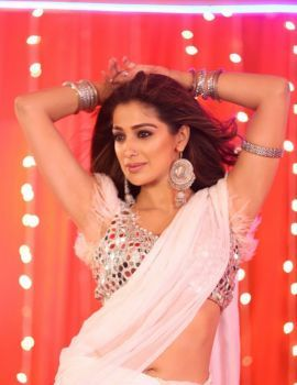 Raai Laxmi in White Saree Stills from