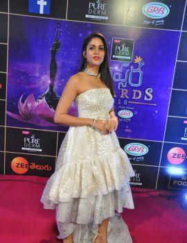 Lavanya Tripathi stills at Zee Apsara Awards 2018