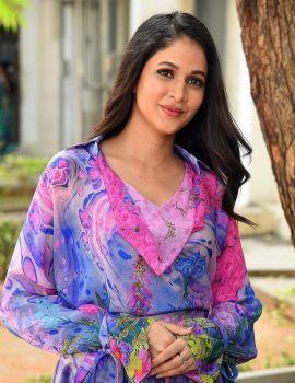 Telugu Actress Lavanya Tripathi Pics at Arjun Suravaram Movie Success Meet