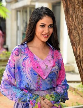 Telugu Actress Lavanya Tripathi Pics at Arjun Suravaram Movie Success Meet