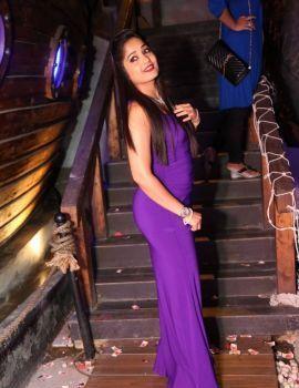 Glamorous Madhavi Latha Latest Stills in Blue Dress