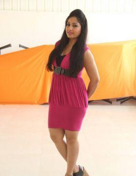 Maadhavi Latha in Pink Dress Stills