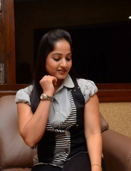 Madhavi Latha Photos at Nayaki Movie Press Meet