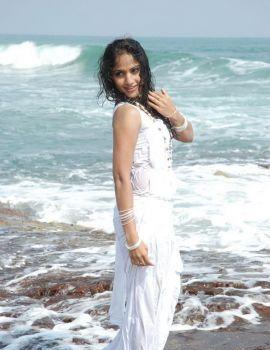 Madhavi Latha Wet White Saree Photoshoot Stills