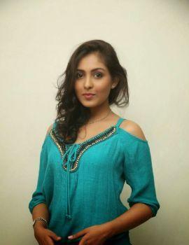 Actress Madhu Shalini Stills at Spandana Movie Press Meet