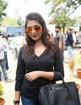 Madhu Shalini Photos at Maa Elections Polling