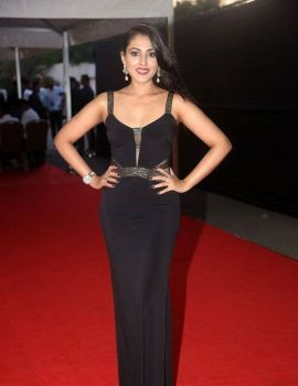 Madhu Shalini Stills at Mirchi Music Awards South 2017 Red Carpet