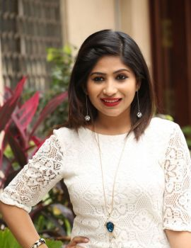 Actress Madhulagna Das Photos in White Dress