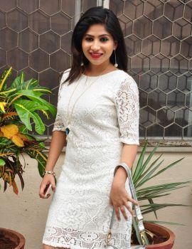 Actress Madhulagna Das Photos in White Dress