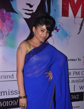 Madhulagna Das at Miss Hyderabad 2014 Auditions in Blue Saree