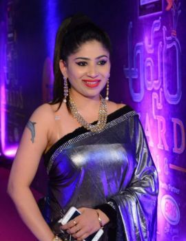 Madhulagna Das at Zee Telugu Apsara Awards 2018