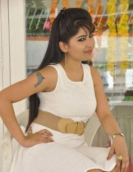 Madhulagna Das Stills at New Telugu Movie Launch Event