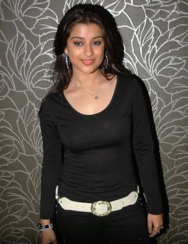 Telugu actress Madhurima in Black Dress