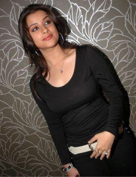 Telugu actress Madhurima in Black Dress