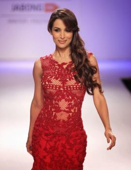 Malaika Arora in Red Dress on Lakme Fashion Week
