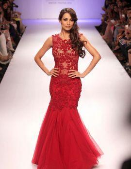 Malaika Arora in Red Dress on Lakme Fashion Week