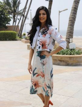 Malavika Mohanan During The Promotions Of Beyond The Clouds