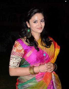 Malavika Nair in Saree at Yevade Subramanyam Audio Launch