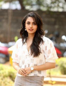 Malavika Nair Stills at Orey Bujjiga Movie Press Meet
