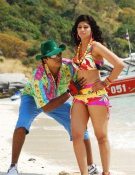 Malishka Hot Bikini Stills from Telugu Movie Nachav Alludu