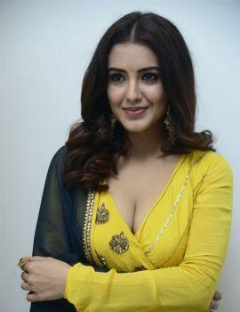 Telugu Actress Malvika Sharma Stills at Red Movie Press Meet