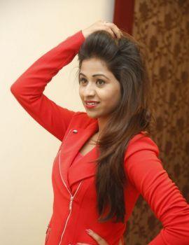 Manali Rathod Latest Glam Stills in Red Jacket