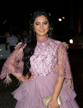 Manasa Himavarsha at 65th Jio Filmfare Awards South 2018 Function