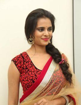 Manasa Himavarsha Latest Transparent Saree Stills