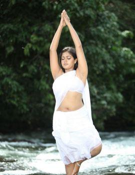 Meghana Raj Stills in Yakshiyum Njanum Movie