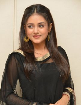 Mishti Chakraborty in Black Salwar at Sarabha Movie Press Meet