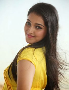 Telugu Actress Mouryaani Photos in Jeans and Yellow Top