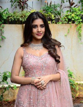 Nabha Natesh at Bellamkonda Sai Sreenivas New Movie opening