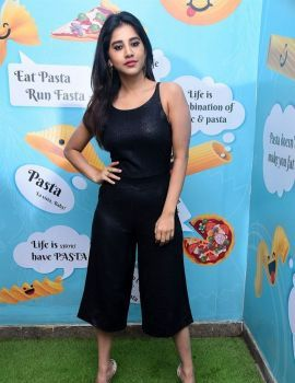 Nabha Natesh Stills at Santosham Awards 2019 Curtain Raiser