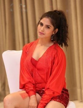 Naina Ganguly Pics in Red Dress at Beautiful Movie Pre Release Function