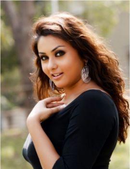 Actress Namitha in black dress hot spicy stills