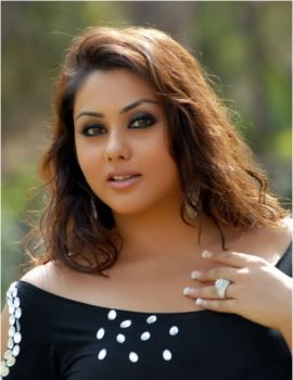 Actress Namitha in black dress hot spicy stills