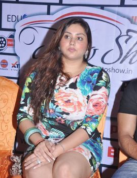 Namitha and Bharath at Moto Show Logo Launch