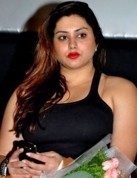Namitha In An All Black Outfit