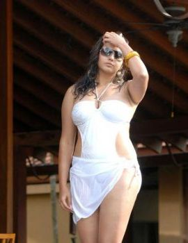 Namitha in Hot & Spicy White Swimsuit