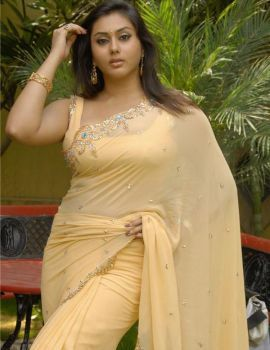 South Indian Actress Namitha In Yellow Saree