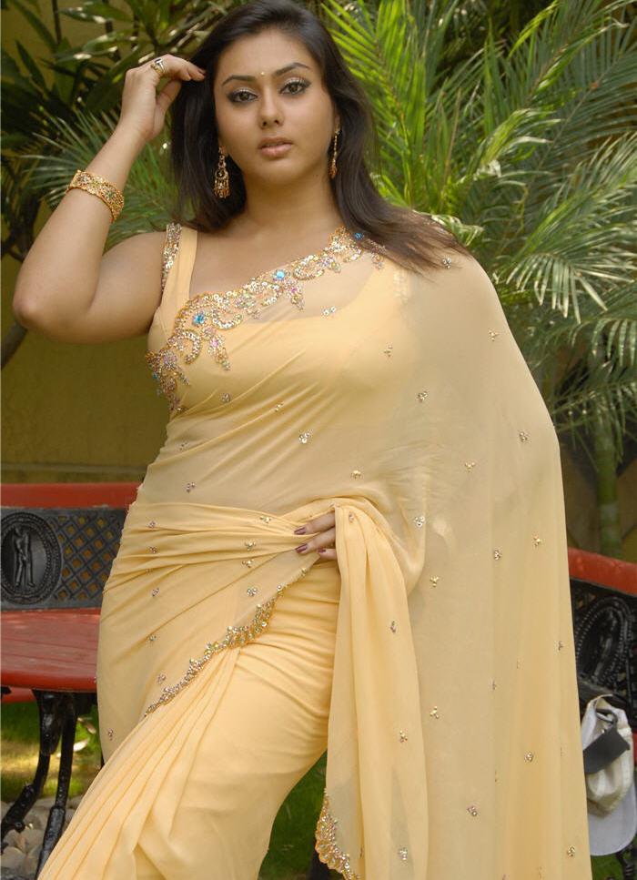 South Indian Actress Namitha In Yellow Saree