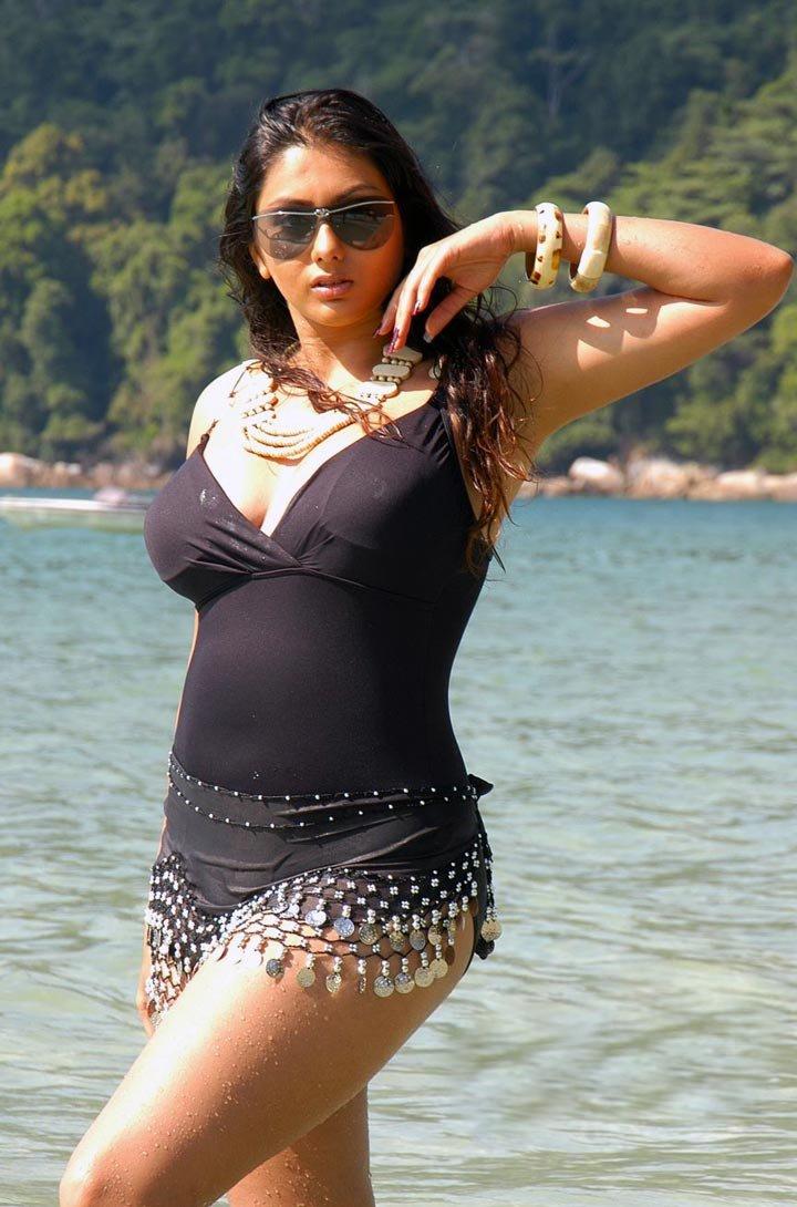 South Indian Actress Namitha Kapoor Hot Bikini Beach Photos