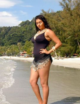 South Indian Actress Namitha Kapoor Hot Bikini Beach Photos