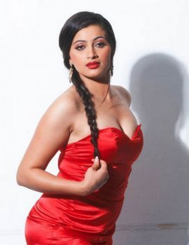 Actress Navaneet Kaur in Hot Red Dress