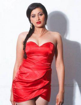 Actress Navaneet Kaur in Hot Red Dress