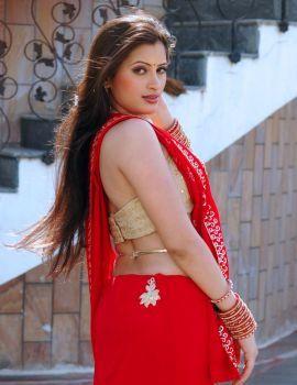 Navneet Kaur Stills in Red Saree