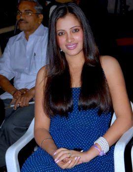 Telugu actress Navaneet Kaur in Blue Frock