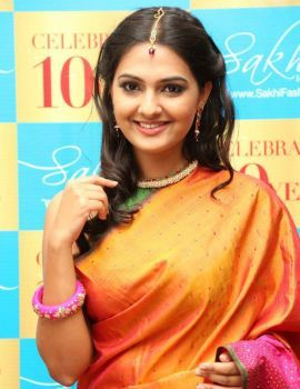 Neha Deshpande Photos at Sakhi Fashions 10th Year Celebrations
